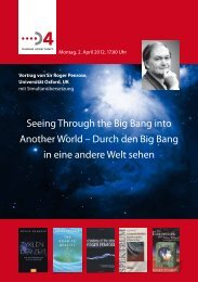 Einladung Vortrag Roger Penrose D4 Business Center Luzern