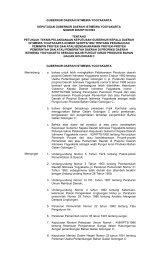 GUBERNUR DAERAH ISTIMEWA YOGYAKARTA - Pemda DI ...