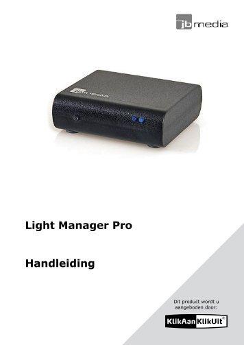 Light Manager Pro Handleiding - De Bespaar Bazaar