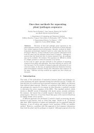 One-class methods for separating plant/pathogen sequences