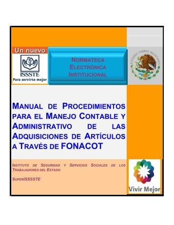manual de procedimientos para el manejo contable y administrativo ...