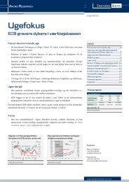 Fokus i den kommende uge - Danske Bank