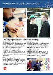 Teknikprogrammet - Teknikvetenskap