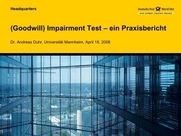 Abschreibung des Geschäftswertes nach IFRS - Eine ...