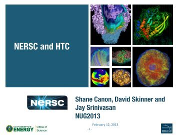 NERSC and HTC - National Energy Research Scientific Computing ...