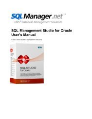 SQL Management Studio for Oracle - User's Manual - EMS Manager