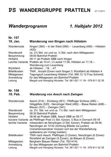 PS WANDERGRUPPE PRATTELN - ps-wandern.ch