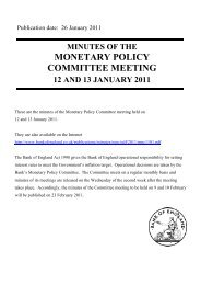 Minutes of the Monetary Policy Committee Meeting held on 12 and ...