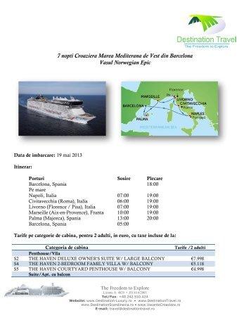 Descarca oferta completa pdf aici - Vacante Croaziere
