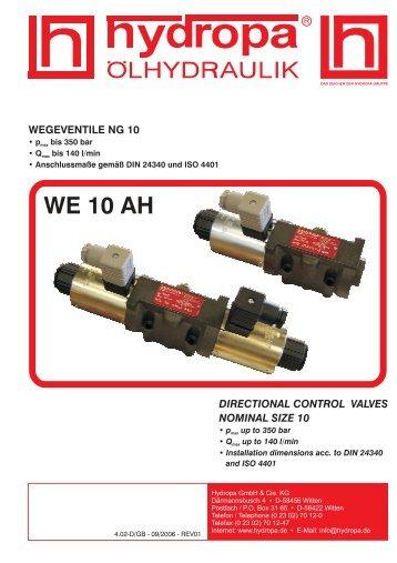WE 10 AH - Hydropa GmbH & Cie. KG