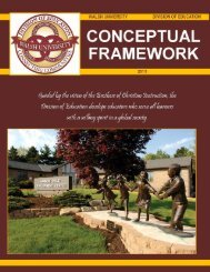 DRAFT of Conceptual Framework DEC 05 - Walsh University