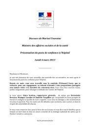 Discours de Marisol Touraine Ministre des affaires ... - FO-Santé