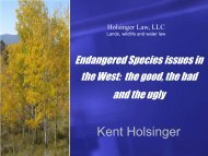 Endangered Species issues in the West - Rmehspg.org