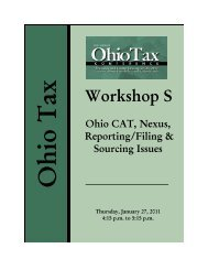 Ohio Tax - Manufacturers' Education Council