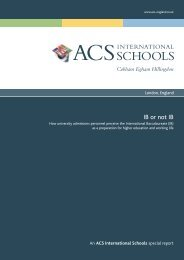 IB or not IB - ACS International Schools