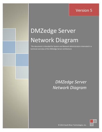 DMZedge Server Network Diagram - South River Technologies