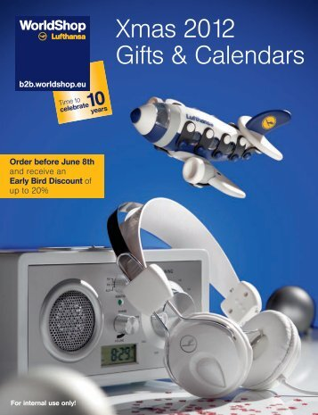 Xmas 2012 Gifts & Calendars - Lufthansa WorldShop