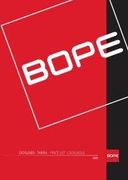 Catálogo BOPE