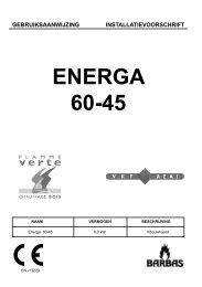 Gebruiksaanwijzing Barbas Energa 60-45 - UwKachel