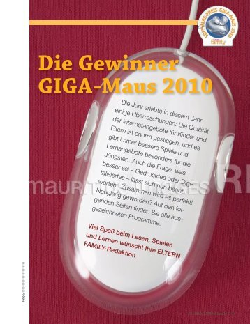 Die Gewinner GIGA-Maus 2010