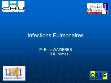 Infections pulmonaires