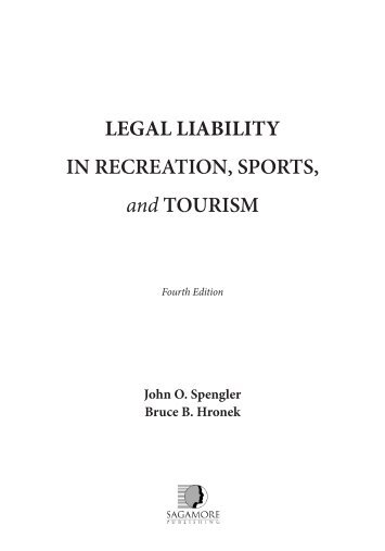 Legal Liability in Recreation, Sports, and Tourism - Sagamore ...