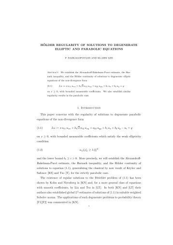 Hölder Regularity of Solutions to Degenerate Elliptic and Parabolic ...