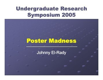 How to present your poster