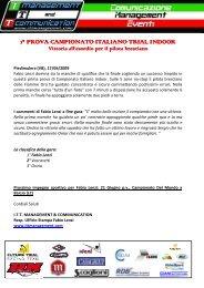 1° prova campionato italiano ° prova campionato italiano ° prova ...