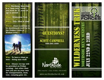 Questions? - Northside Christian Church