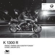 Preisliste K 1300 R (PDF, 311 KB) - BMW Motorrad