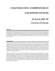cogeneration: combined heat and power systems - Civil ...