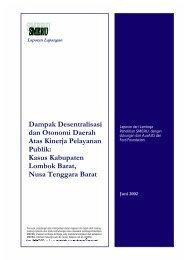 Dampak Desentralisasi dan Otonomi Daerah Atas Kinerja ...
