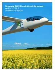 7th Annual CAFE Electric Aircraft Symposium ... - CAFE Foundation