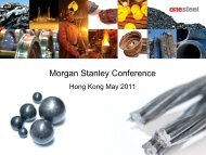 Presentation - Morgan Stanley Conference Hong Kong - OneSteel