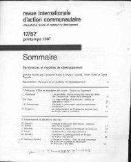revue internationale d'action communautaire - DanielHiernaux.Net