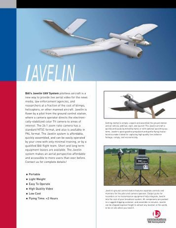 Javelin UAV System - Unmanned Aircraft & Drones