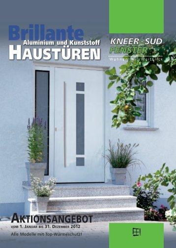 Prospekt | Brillante Aluminium-und Kunststoff-Haustüren
