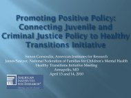 Juvenile Justice - National Technical Assistance Center for ...