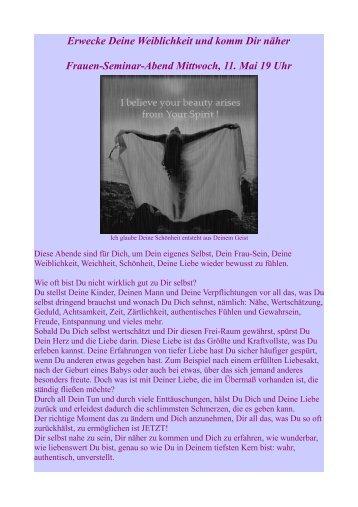 Erwecke Deine Weiblichkeit und komm Dir näher Frauen-Seminar ...