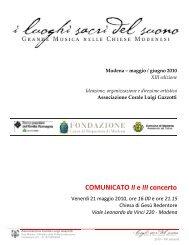 COMUNICATO II e III concerto - Coro Luigi Gazzotti