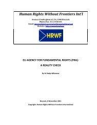 EU Agency for Fundamental Rights (FRA) - Strasbourg Consortium