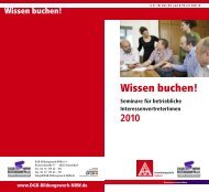 Wissen buchen! Seminare - IG Metall Verwaltungsstelle Velbert