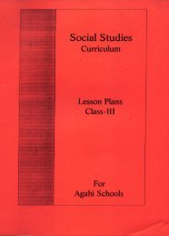Social Studies Curriculum lesson Plan class III