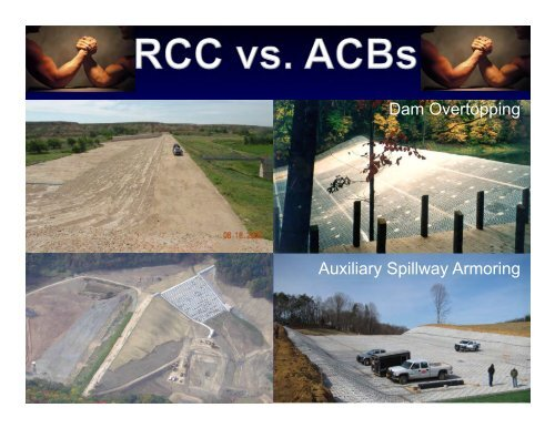 RCC vs. Articulated Concrete Blocks for Overtopping Protection