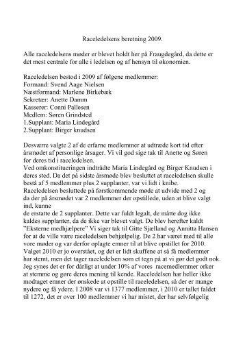 Årsberetning RL 2009 - Golden Retriever Danmark