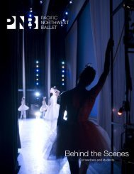 Behind The Scenes Study Guide - Pacific Northwest Ballet