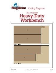 Heavy-Duty Workbench Cutting Diagram - ShopNotes