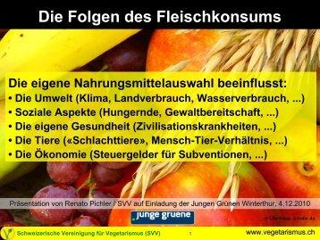 Präsentation - Schweizerische Vereinigung für Vegetarismus