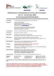 """Einladung zum 2. Internationalen Go-Turnier """"Go to Innovation"""" vom ..."""